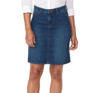 NYDJ Blue Denim Skirt Sz 6